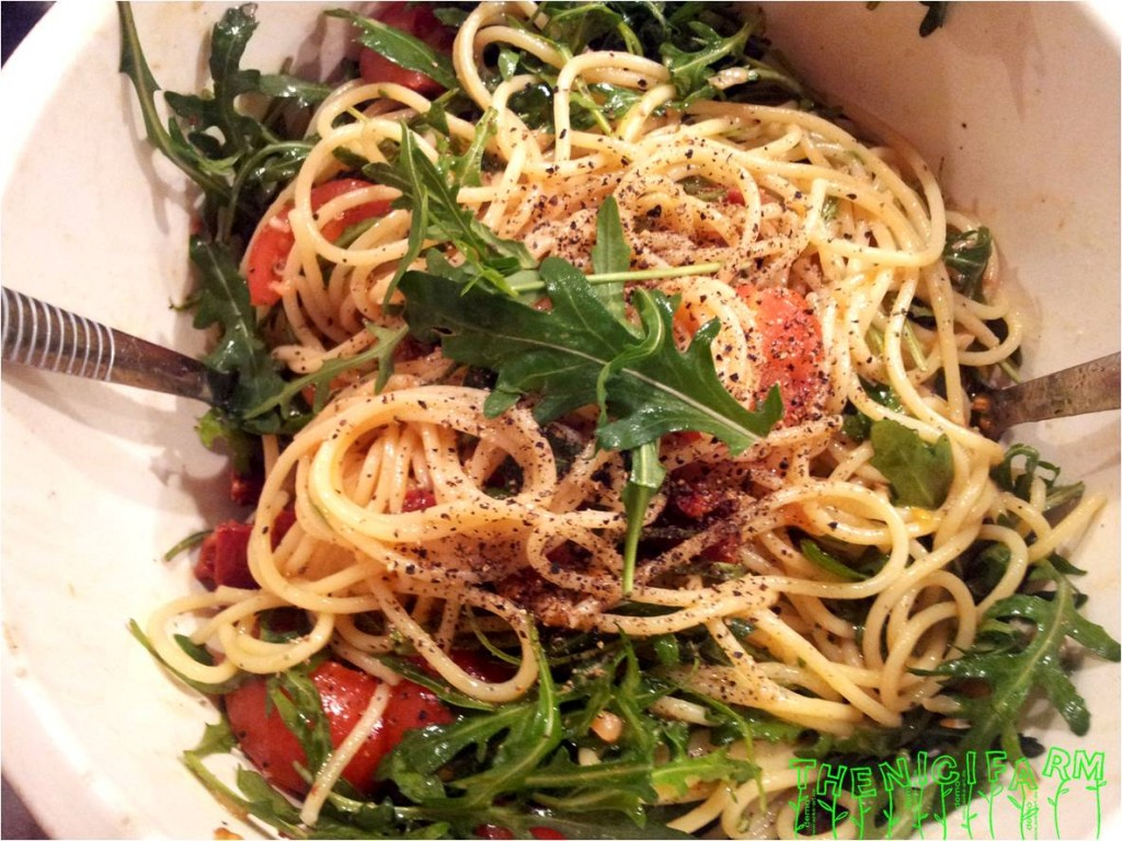rucola spagetti